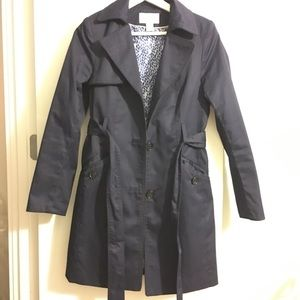 H&M Navy Trench Coat Size 4